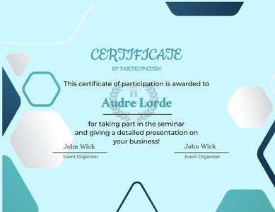 certificate 55 text poster