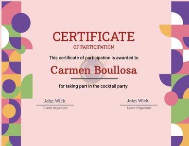 certificate 58 text flyer