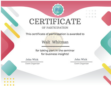 certificate 61 text document