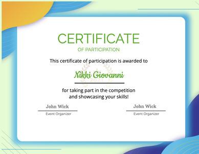 certificate 66 text businesscard
