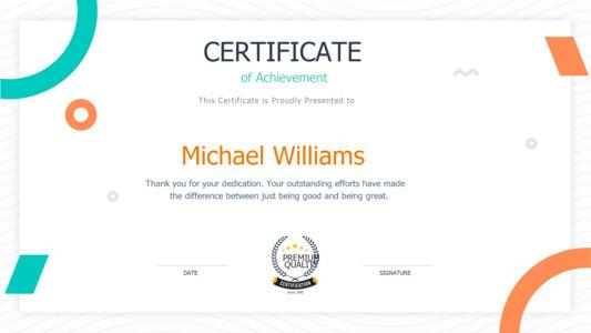 certificate 9 fillable  certificate of achievement online