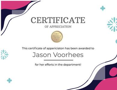 certificate 90 text diploma