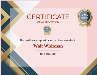 certificate 96 text document