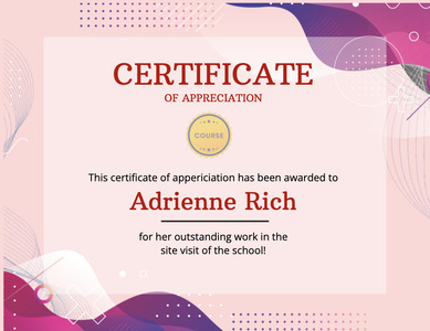 certificate 99 text poster