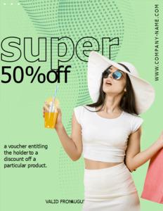 abstract coupon 4 free editable abstract  coupon