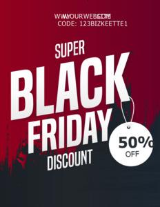blackfriday coupon 3 design black friday  coupon online