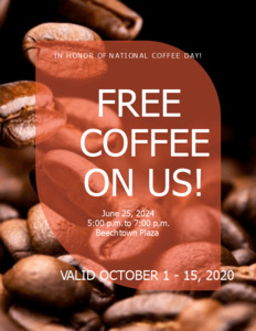 bold coupon 3 template  coupon for coffee sale