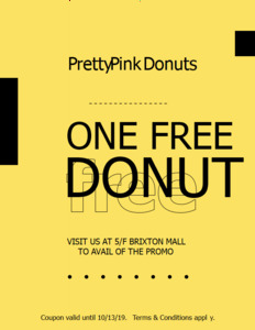 bold coupon 4 free donuts  coupon template