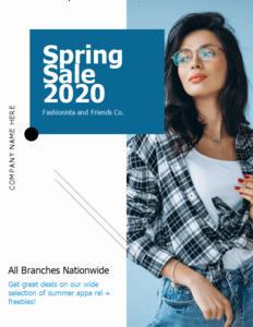 bold coupon 5 editable spring sale  coupon design