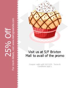 cupcake coupon 2 cupcake  coupon design online