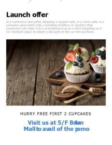 cupcake coupon 3 free cupcake  coupon