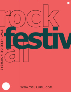 festivals coupon 3 rock fest  coupon template free
