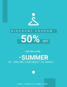 summerfashion coupon 2 poster advertisement