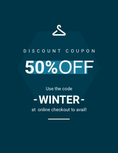 winterfashion coupon 2 advertisement poster
