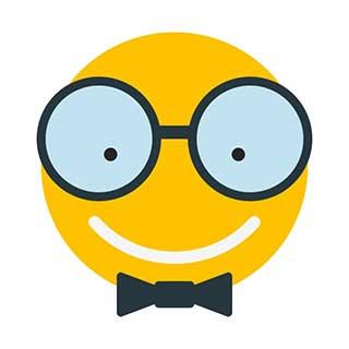 emoticon 13 nerd face  emoticon maker