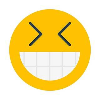 emoticon 16 grinning squinting face  emoticon maker