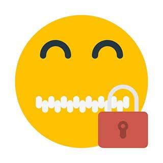 emoticon 28 zipper mouth  emoticon maker