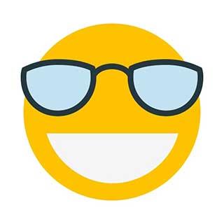 emoticon 5 big glasses  emoticon maker