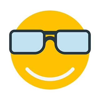 emoticon 7 big glasses  emoticon maker