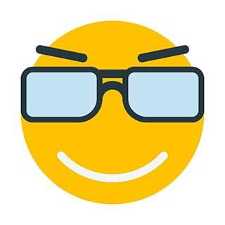 emoticon 8 dcrooked glasses  emoticon maker