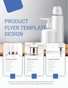 products flyer 4 bottle cosmetics