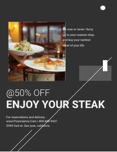 restaurant flyer 5 advertisement  flyer