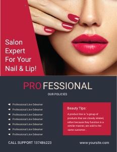 salon flyer 4 advertisement poster