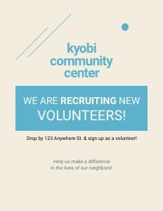volunteer flyer 2 poster advertisement