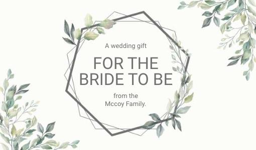 wedding gifttag 2 plant text
