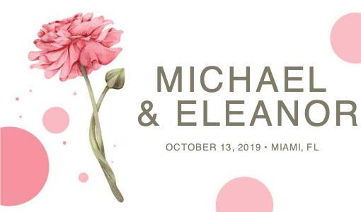 wedding gifttag 3 plant petal