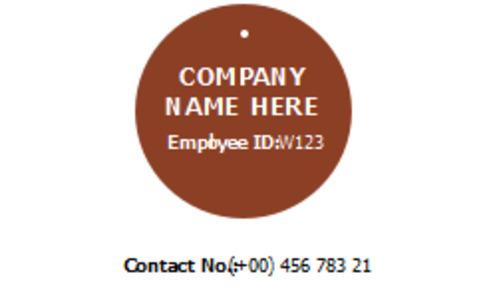 chocolate idlicense 1a chocolate id license card