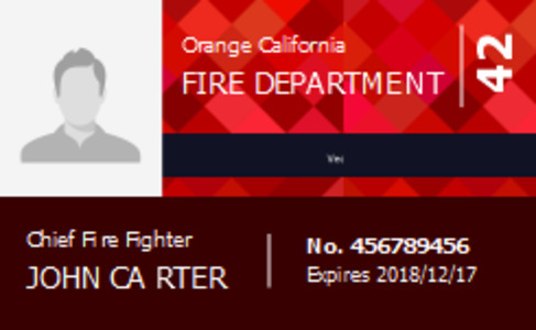 firefighter idlicense 4a firefighter id license template