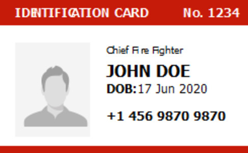 firefighter idlicense 5a firefighter id license ideas