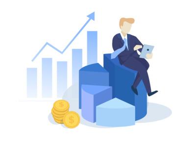 business illustration 2 online business  illustration design