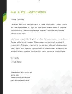 letterhead 10  letterhead design