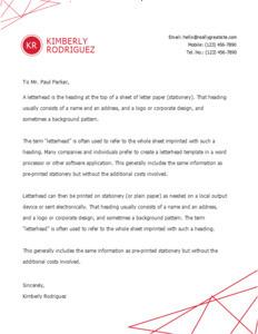 letterhead 12 online  letterhead design