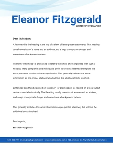 letterhead 15 page text