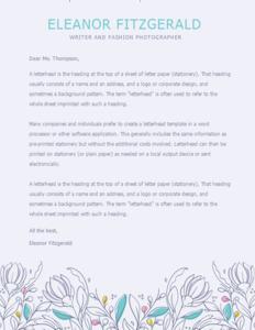 letterhead 16 free  letterhead templates