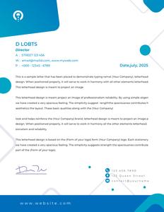 letterhead 29 company  letterhead example