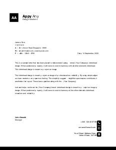 letterhead 4 create  letterhead free