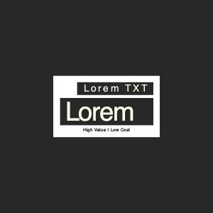 apparels logo 5 text label