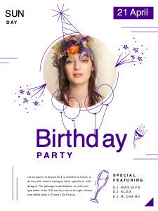 birthday poster 5 happy birthday  poster template maker