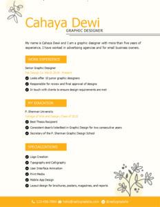 resume 11 graphic designer  resume sample