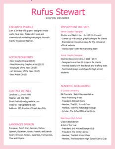 resume 12 graphic designer  resume templates