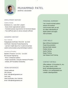 resume 13 custom graphic designer  resume