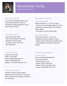 resume 19 graphic designer  resume maker