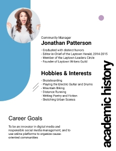 resume 2 advertisement poster